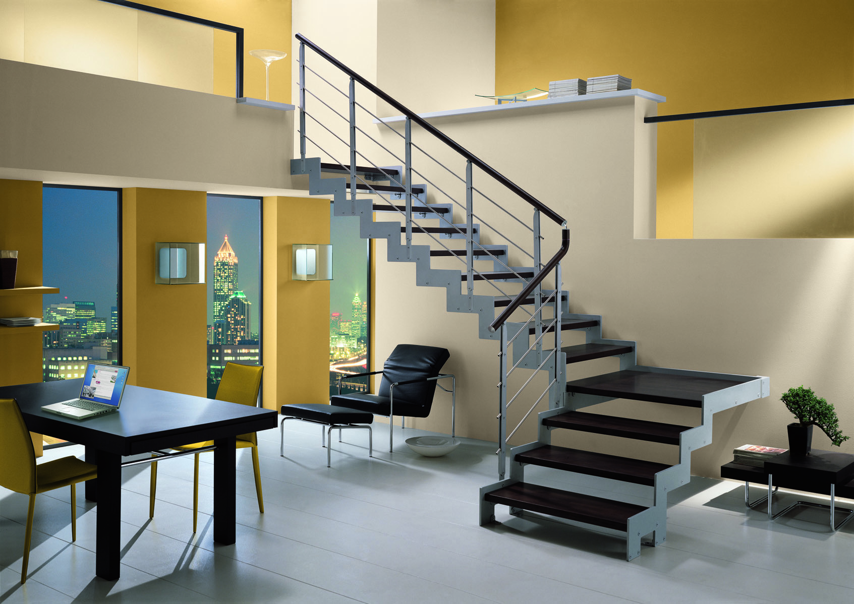 Monolama Wengue Sociescadas :: Escadas > Direitas > Linha Moderna #936C38 1693x1198
